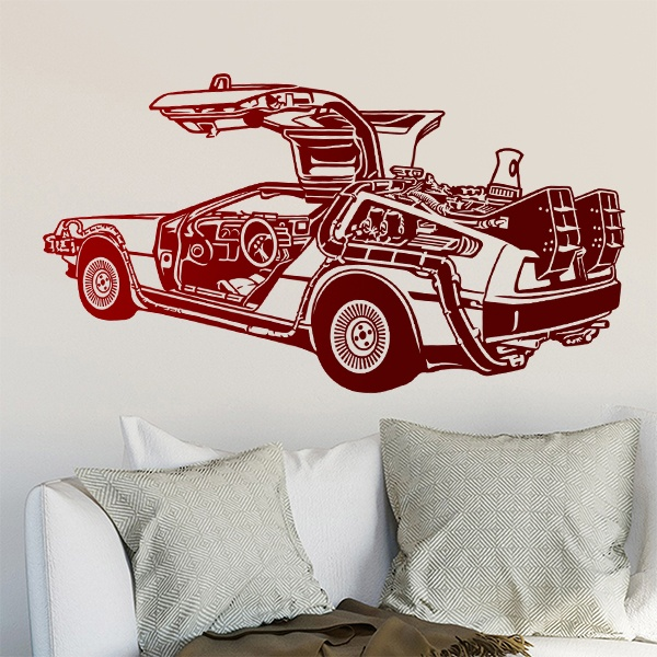 Wall Stickers: DeLorean