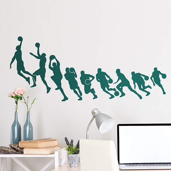 Wall Stickers: Michael Jordan Basket silhouettes