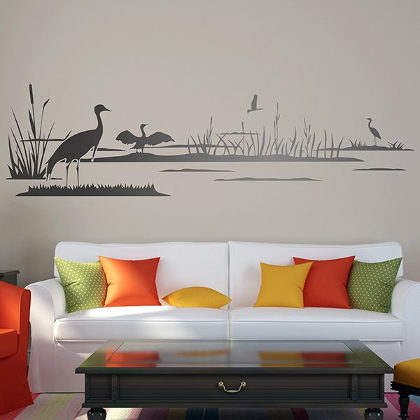 Wall Stickers: Ducks on the lake