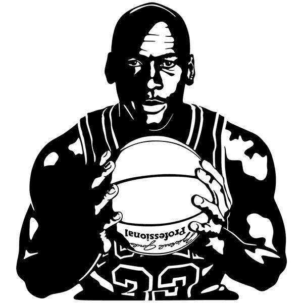 Wall Stickers: Michael Jordan with ball