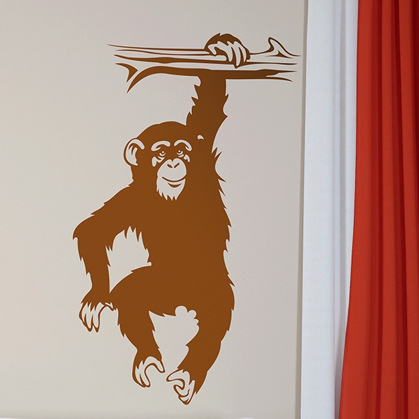 Wall Stickers: Chimpanzee on branch