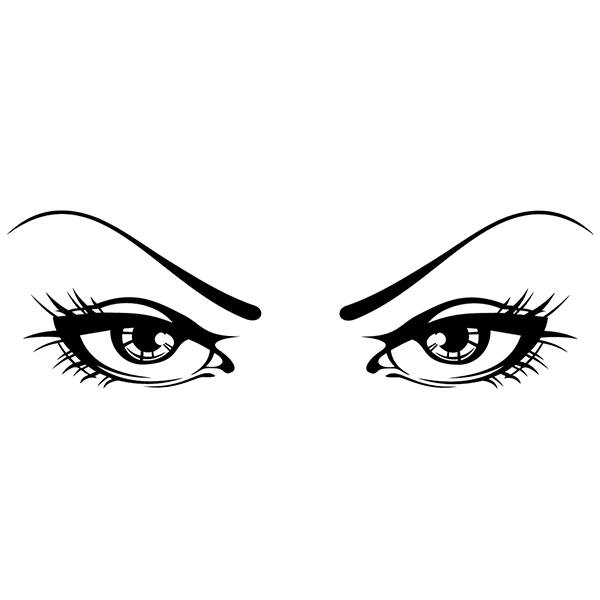 Wall Stickers: Woman eyes