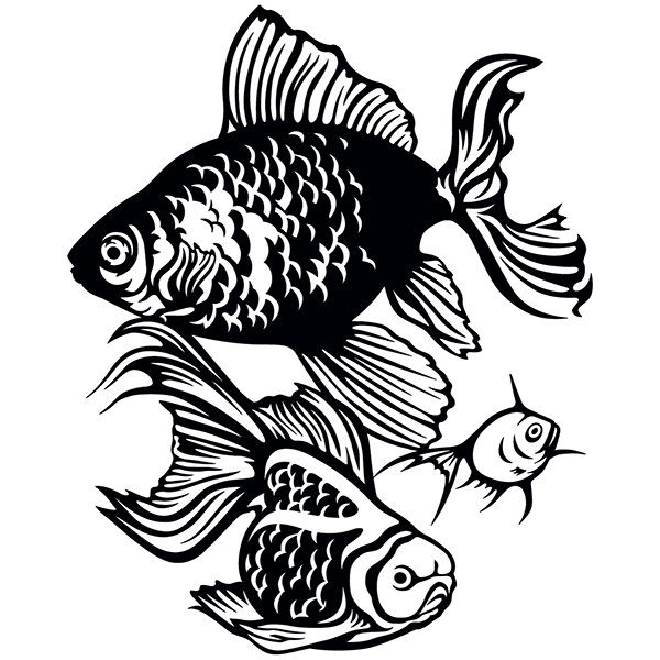 Wall Stickers: Oriental fish