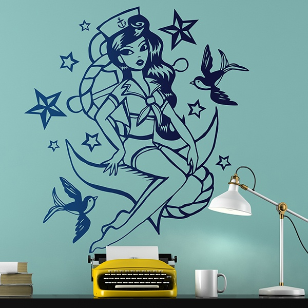 Wall Stickers: Sailor girl Pin-Up
