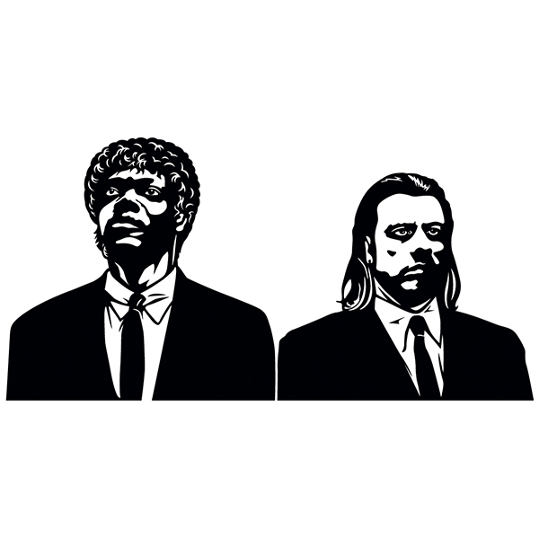 Wall Stickers: Pulp Fiction, Vincent and Jules