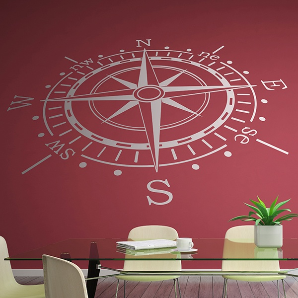 Wall Stickers: Compass rose