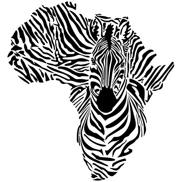 Wall Stickers: Zebra in Africa