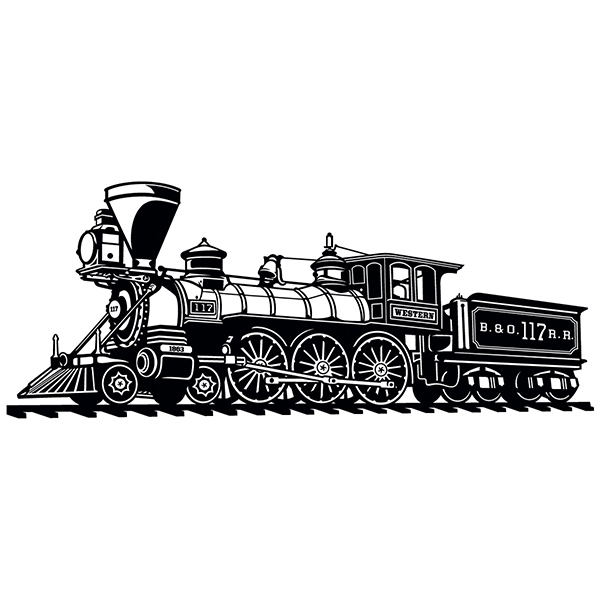 Wall Stickers: Old train