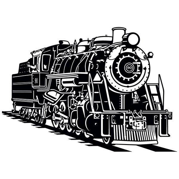 Wall Stickers: Old steam train