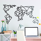 Wall Stickers: Map Origami Mundi 2
