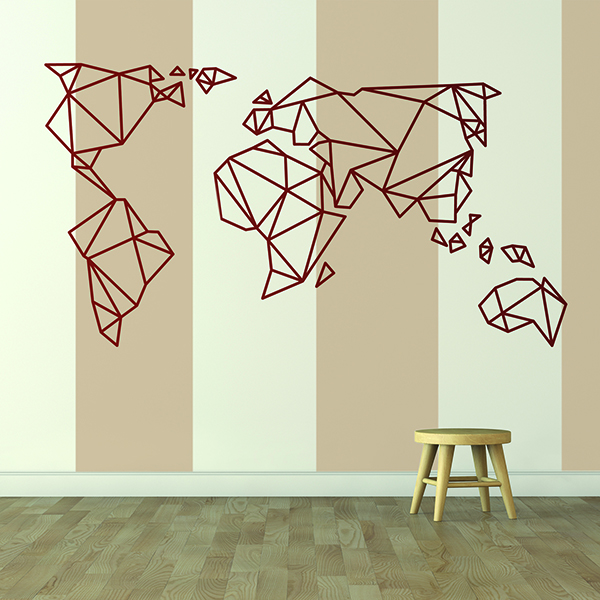 Wall Stickers: Map Origami Mundi