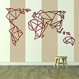 Wall Stickers: Map Origami Mundi 3