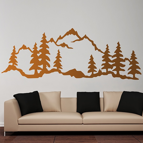 Wall Stickers: Mountain Forest