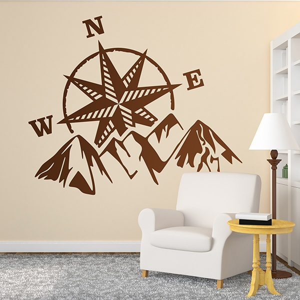 Wall Stickers: Adventure rose of the winds