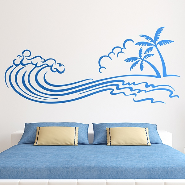 Wall Stickers: Tsunami on the beach