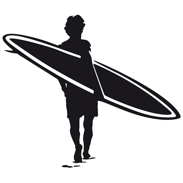 Wall Stickers: Surfer in the sand