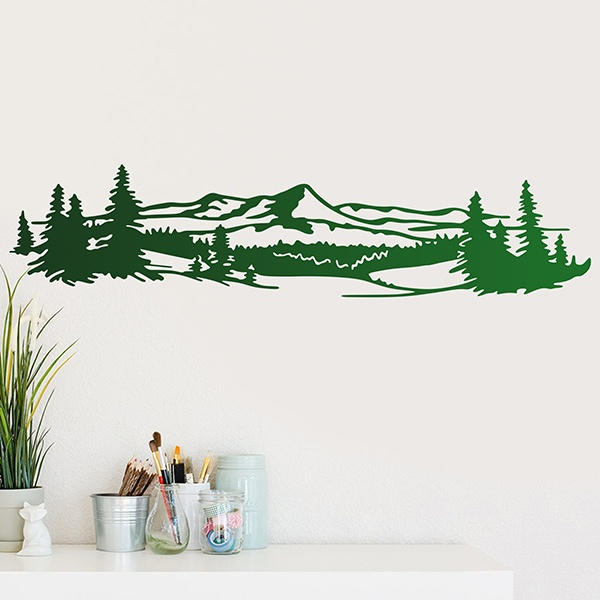 Wall Stickers: Mountainous landscape