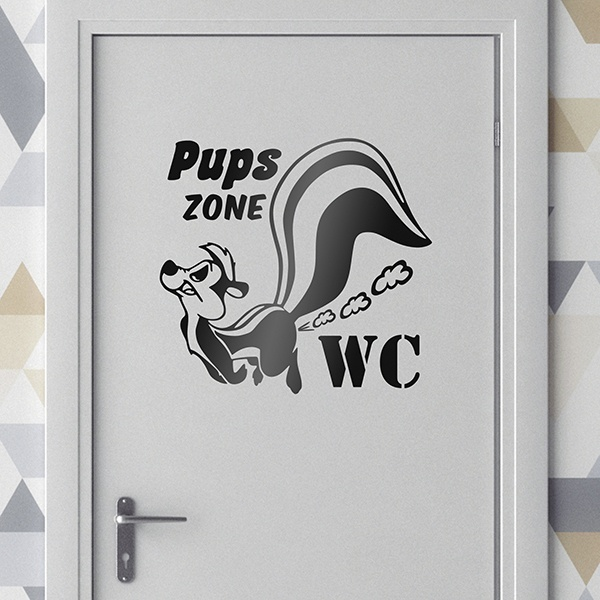 Wall Stickers: Pups zone WC