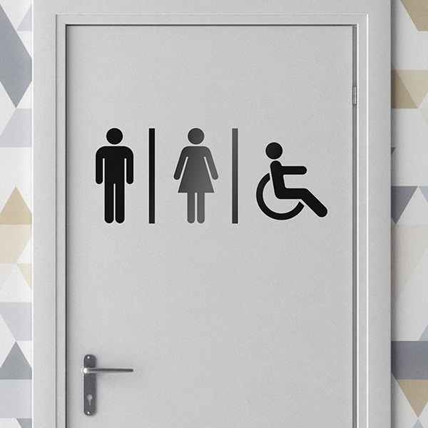 Wall Stickers: Sanitary WC icons 0
