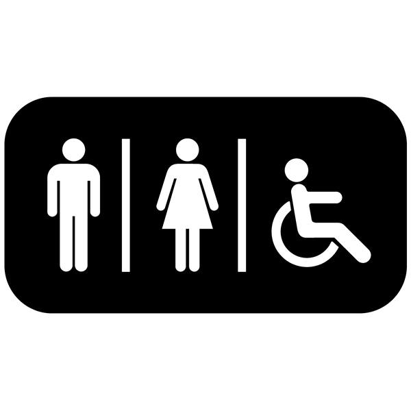 Wall Stickers: Sanitary WC icons rectangular