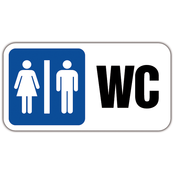 Wall Stickers: Signal WC