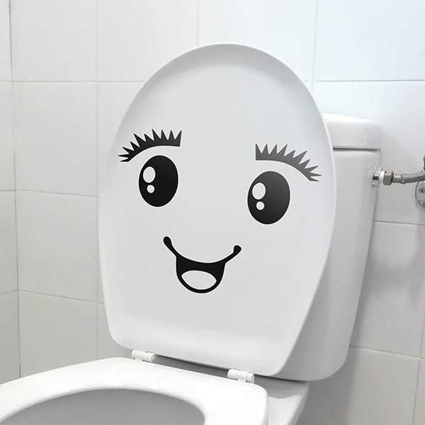 Wall Stickers: WC Smile