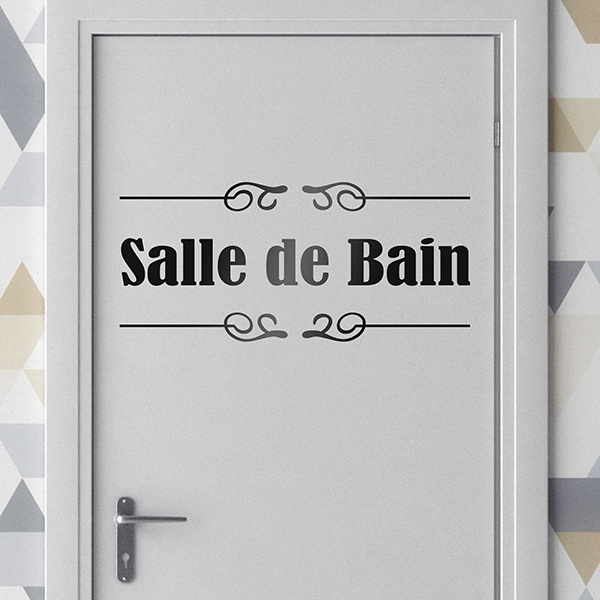 bathroom wall sticker signaling salle de bain