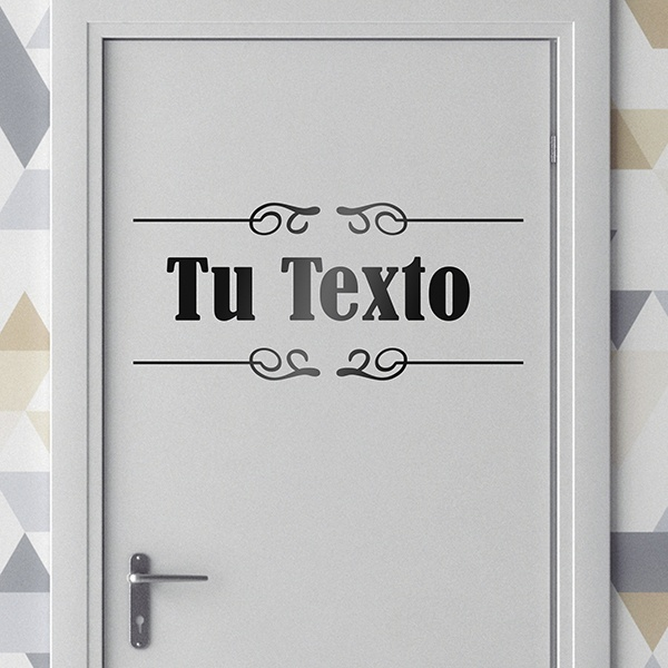 Wall Stickers: Custom Door Signage