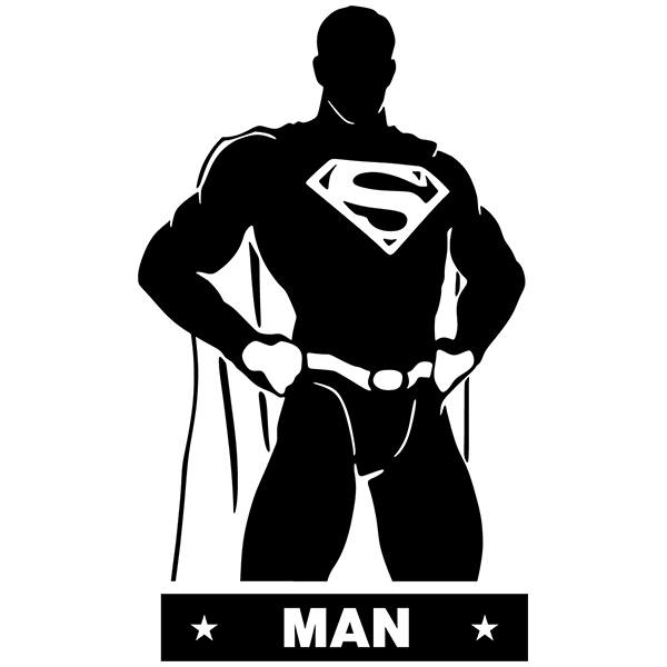 Wall Stickers: WC SuperMan