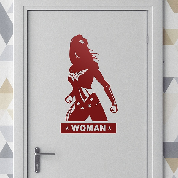 Wall Stickers: WC WonderWoman