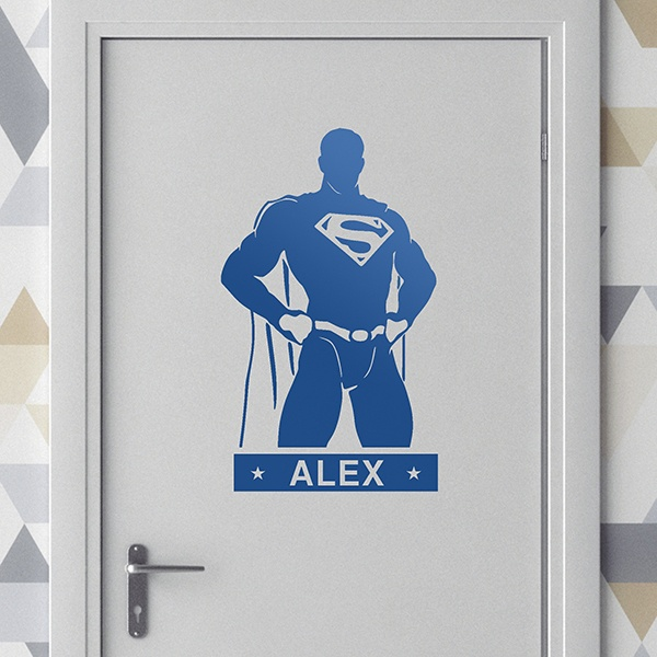 Stickers for Kids: SuperMan personalized