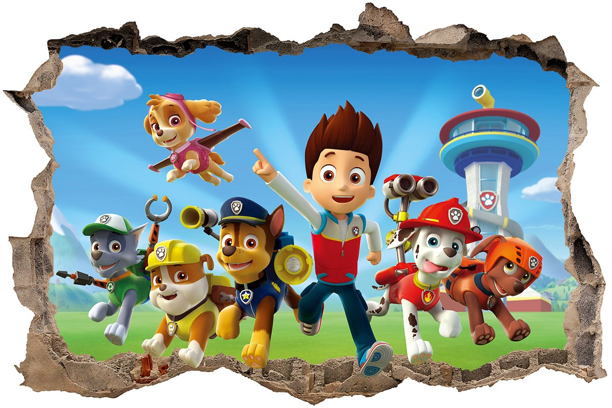 Wall Stickers: Hole Paw Patrol