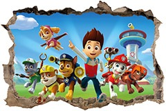 Wall Stickers: Hole Paw Patrol 3