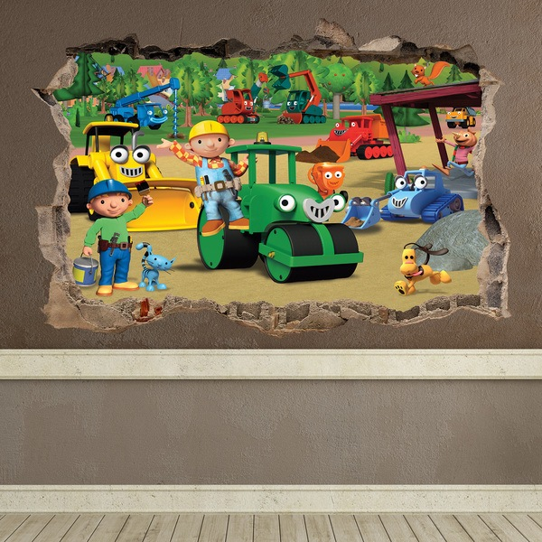 Wall Stickers: Hole Bob the builder