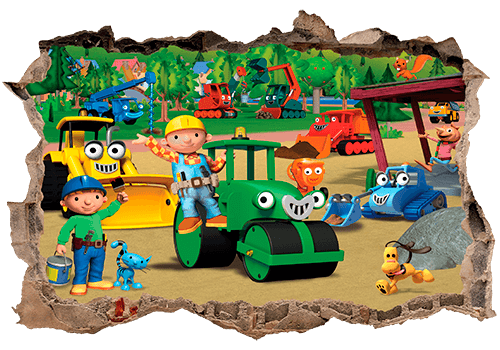 Wall Stickers: Hole Bob The Builder Photo Gallery