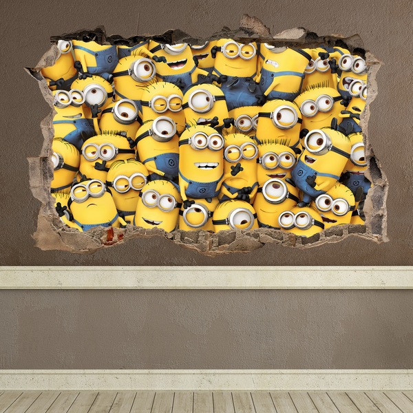 Wall Stickers: Hole Minions