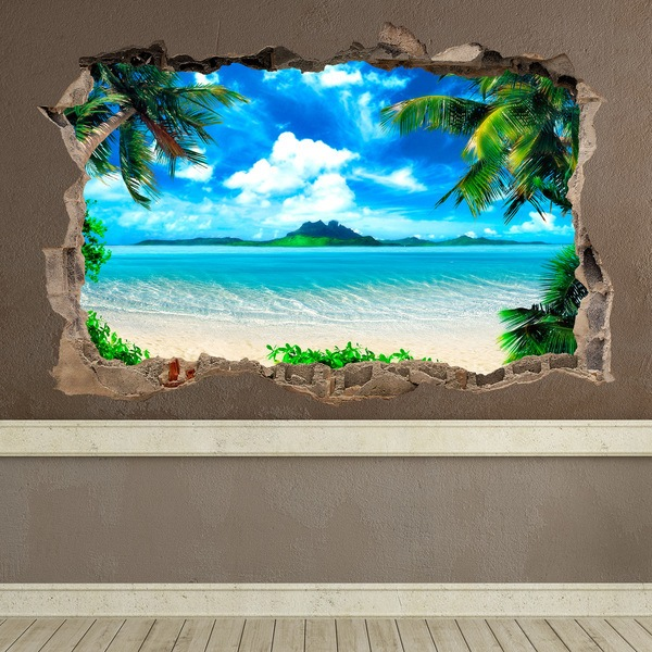 Wall Stickers: Hole Caribbean beach
