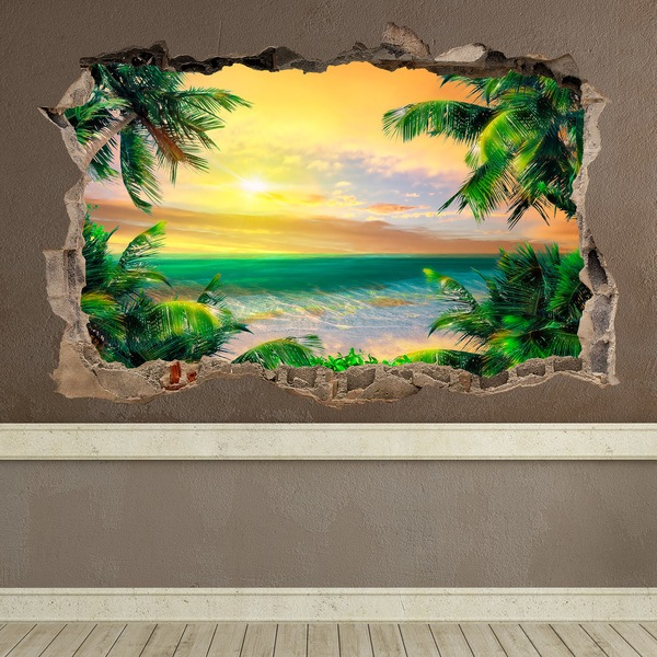 Wall Stickers: Hole Golden Dawn
