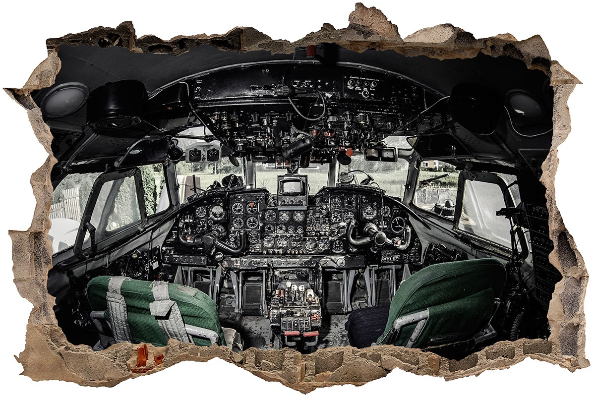 Hole airplane cockpit for Cockpit wall mural