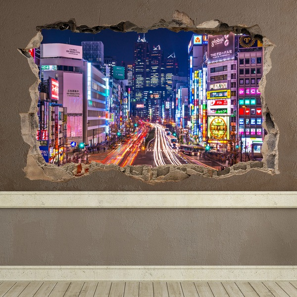 Wall Stickers: Hole Tokyo Streets