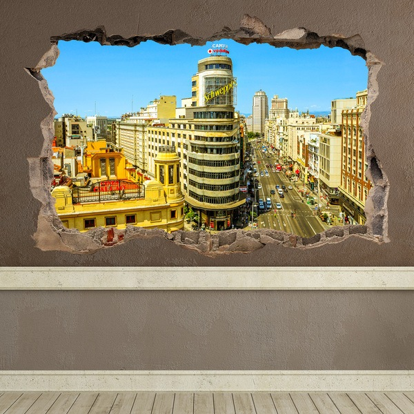 Wall Stickers: Hole Capitol Building Madrid