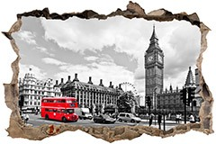 Wall Stickers: Hole Big Ben London 3