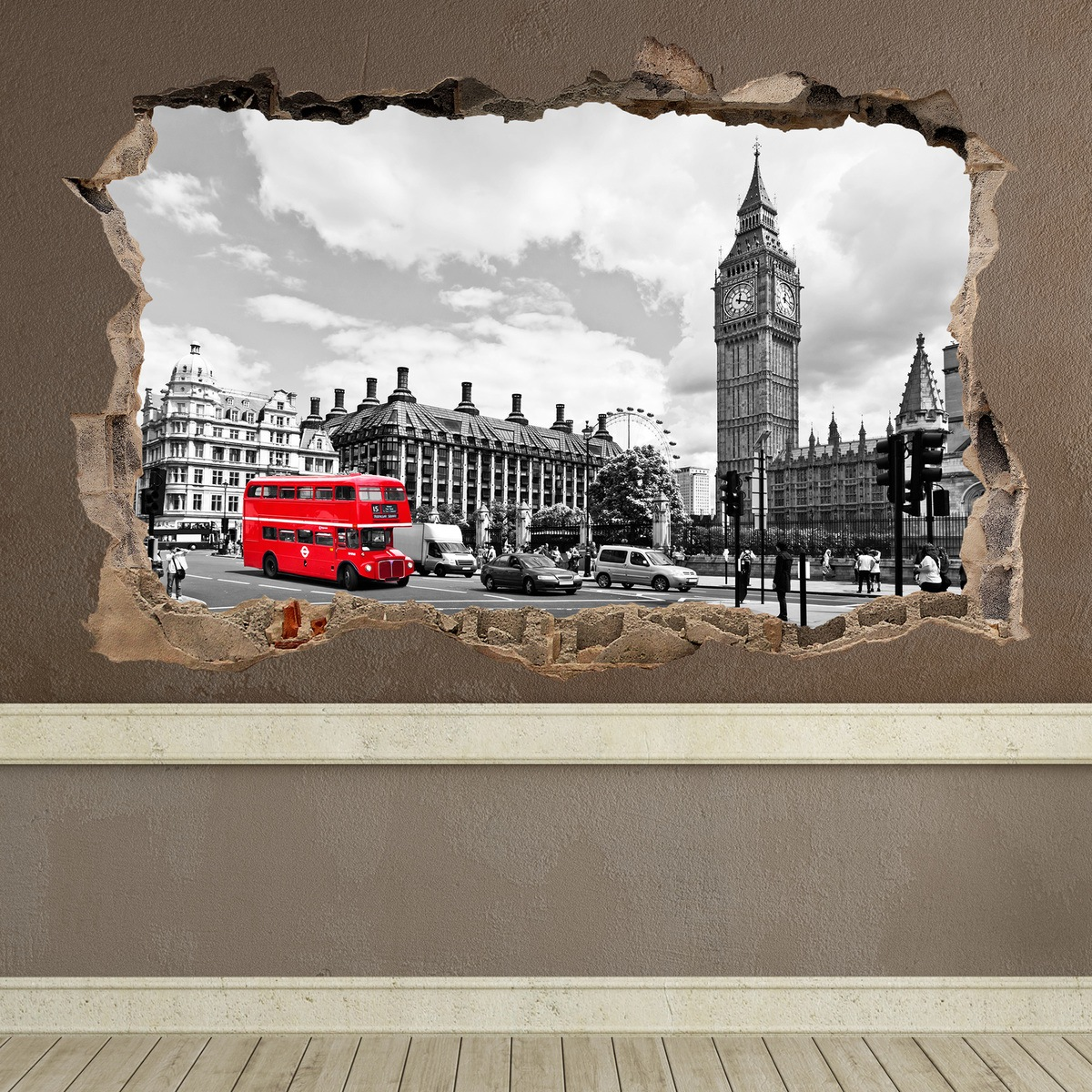 Wall Stickers: Hole Big Ben London 4
