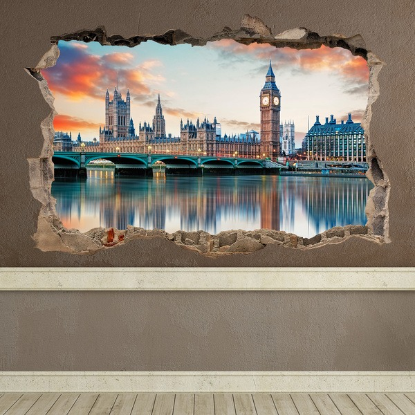 Wall Stickers: Hole London from the Thames