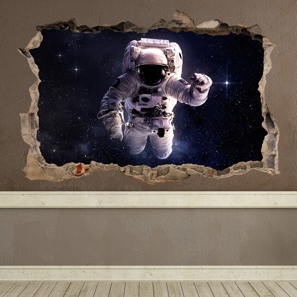 Wall Stickers: Hole Astronaut
