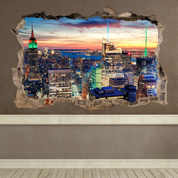 Wall Stickers: Hole New York Night