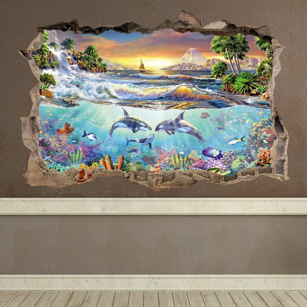 Wall Stickers: Hole Seascape