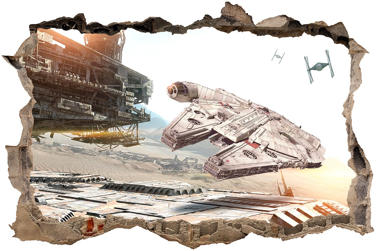 Wall Sticker Hole Millennium Falcon Muraldecal Com