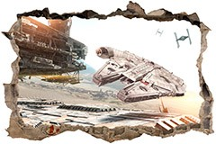 Wall Stickers: Hole Millennium Falcon 3