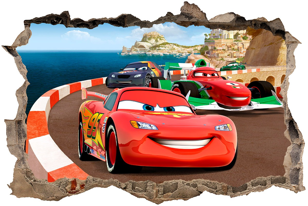 Wall Stickers: Hole Cars